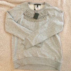 BCBGMAXAZRIA Asten Crystal embellished sweatshirt